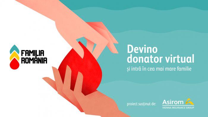 Prima platforma de donatori de sange virtuali