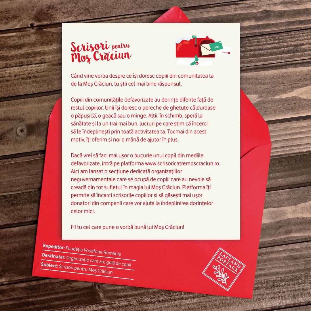 Scrisori către Moș Crăciun, platformă gratuită pentru copii din comunități defavorizate
