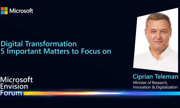 Ciprian Teleman, Ministrul Digitalizării: România e în proces de transformare digitală