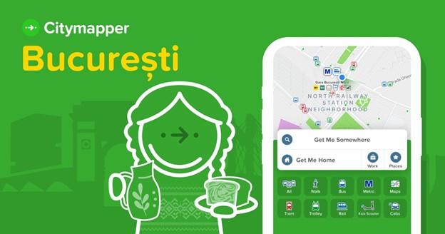 Aplicația de navigare, Citymapper, lansată oficial și în București