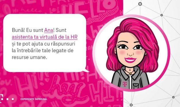 Telekom România lansează Ana, un chatbot care poate realiza activitățile de HR